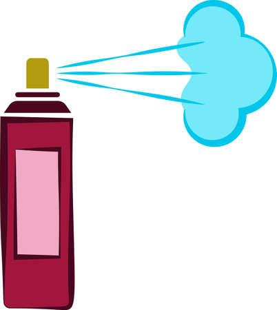 Aerosol Fluid Spray Cloud Icon Vector Art Illustration