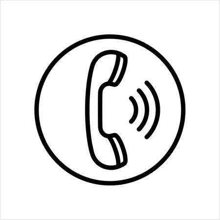 Telephone Receiver Icon Vector Art Illustration
