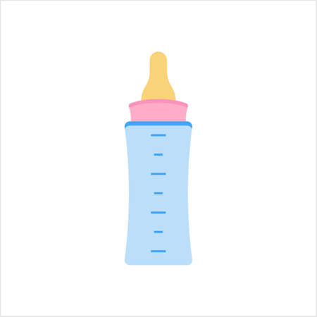 Baby Bottle Icon, Milk, Water Bottle Icon Vector Art Illustration Stockfoto - 147822479