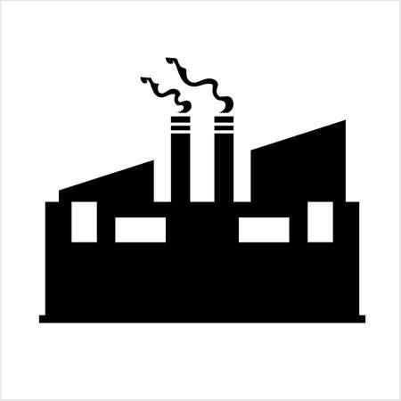 Factory Icon, Industries Icon Vector Art Illustration