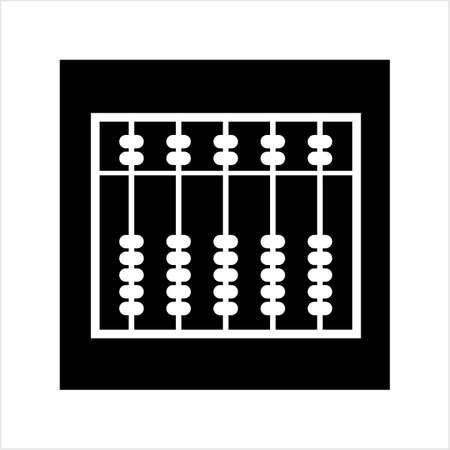 Abacus Icon, Abacus Vector Art Illustration