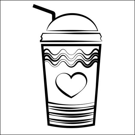 Coffee Takeaway Cup Vector Art Illustration
