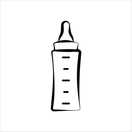 Baby Bottle Icon, Milk, Water Bottle Icon Vector Art Illustration Stock Illustratie