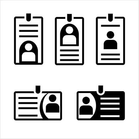 Id Card Icon Vector Art Illustration Illustration
