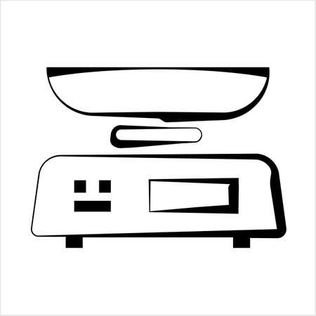 Kitchen Weight Scale Icon Vector Art Illustration Vektorové ilustrace