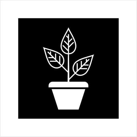 Plant Pot Icon Vector Art Illustration Ilustração