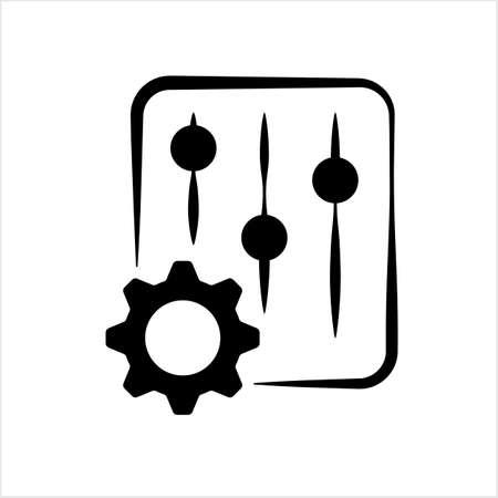 Setting Icon, Gear, User Preference Setting Vector Art Illustration Vektoros illusztráció