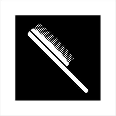 Hairbrush Icon, Comb Icon Vector Art Illustration Vettoriali