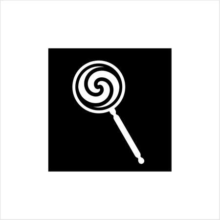 Lollipop Icon, Lollipop Vector Art Illustration Ilustração