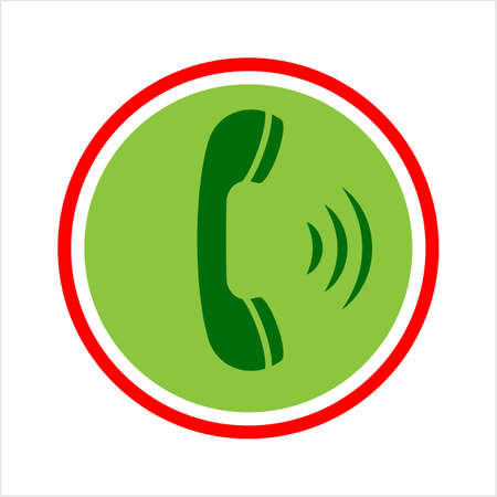 Telephone Receiver Icon Vector Art Illustration
