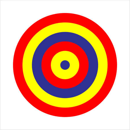 Target Icon, Target Board Vector Art Illustration