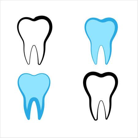 Teeth Icon Design, Medical Design Vector Art Illustration Ilustração