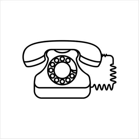 Telephone Icon, Phone Vector Art Illustration