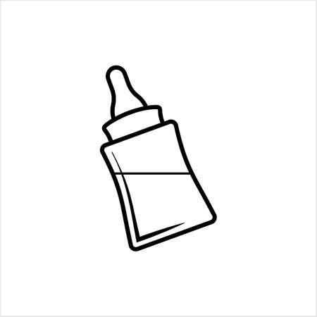 Baby Bottle Icon, Milk, Water Bottle Icon Vector Art Illustration Stockfoto - 147826931