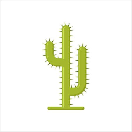 Cactus Icon, Cactus Plant Icon Vector Art Illustration