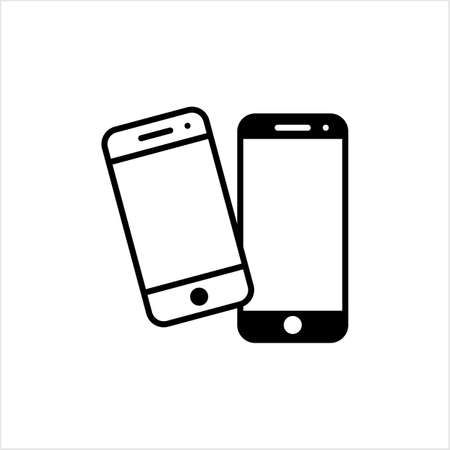 Smart Phone Icon, Smartphone Vector Art Illustration Vettoriali