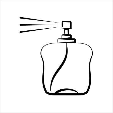 Perfume Icon, Perfume Spray Vector Art Illustration