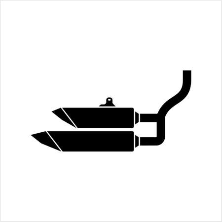 Exhaust Icon, Auto Exhaust Icon Vector Art Illustration