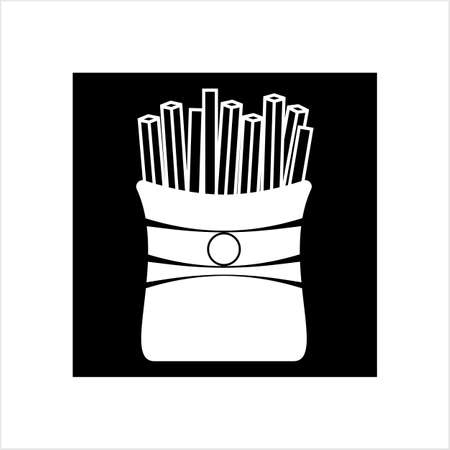 French Fries Icon Vector Art Illustration