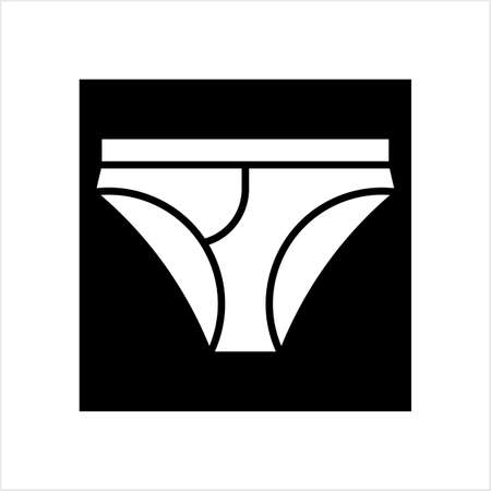 Underwear Icon, Underwear Vector Art Illustration