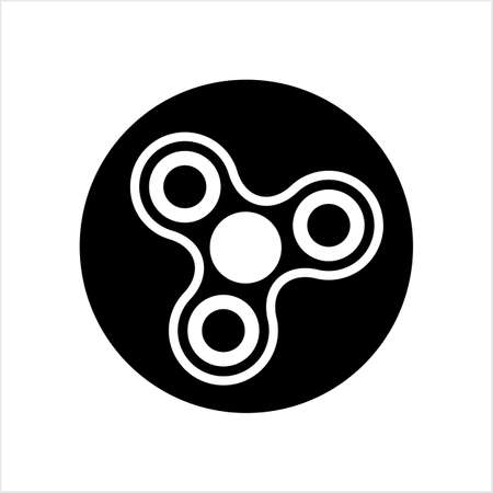 Fidget Spinner, Hand Spinner Toy Icon Vector Art Illustration
