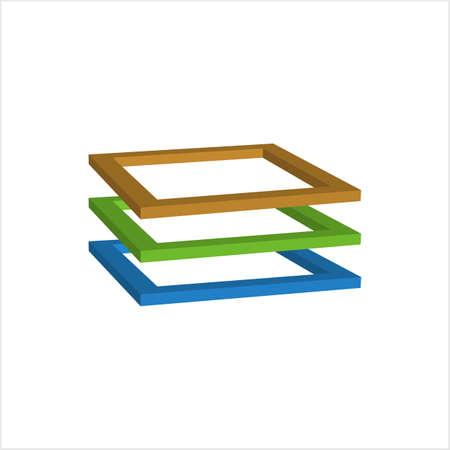 Layer Icon, Layer Vector Art Illustration  イラスト・ベクター素材
