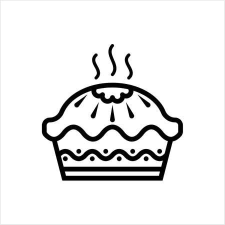 Pie Icon, Food Pie Icon Vector Art Illustration Vetores