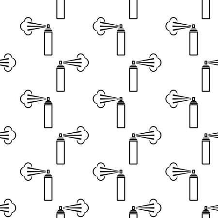 Aerosol Fluid Spray Cloud Icon Seamless Pattern Vector Art Illustration Illustration