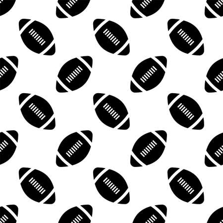 American Football Icon Seamless Pattern, Soccer Ball Seamless Pattern Vector Art Illustration  イラスト・ベクター素材