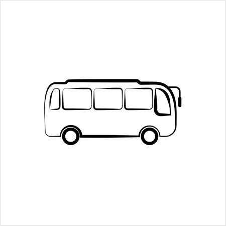 Bus Icon, Bus Vector Art Illustration