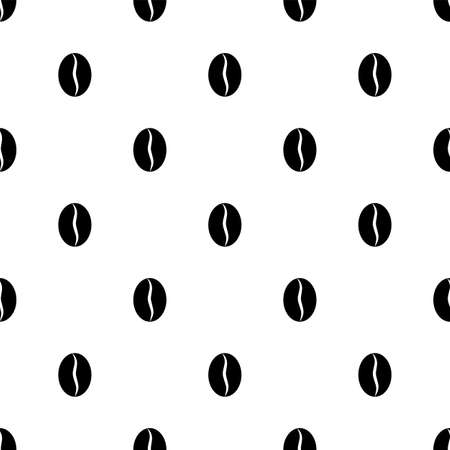 Coffee Bean Icon Seamless Pattern Vector Art Illustration