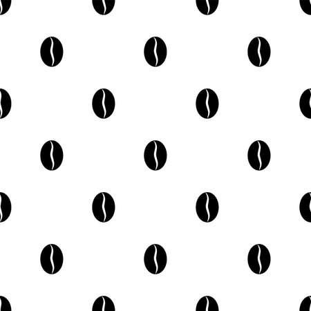 Coffee Bean Icon Seamless Pattern Vector Art Illustration