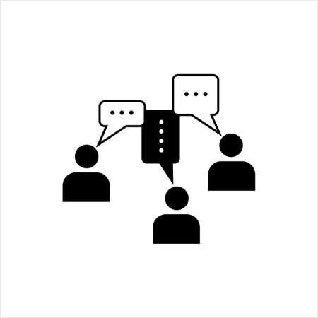 Communication Icon, Business, Social Communication Icon Vector Art Illustration