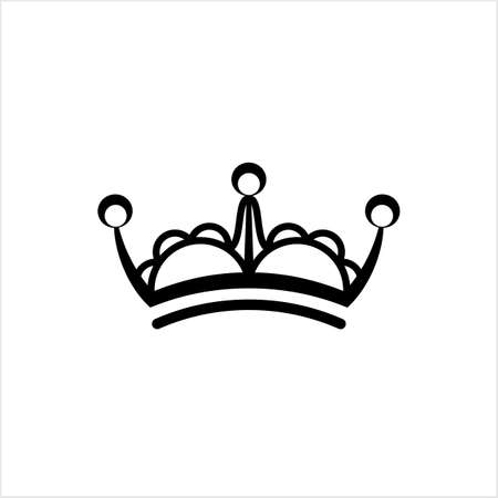 Crown Icon, Crown Vector Art Illustration Ilustração
