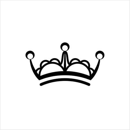 Crown Icon, Crown Vector Art Illustration Illustration