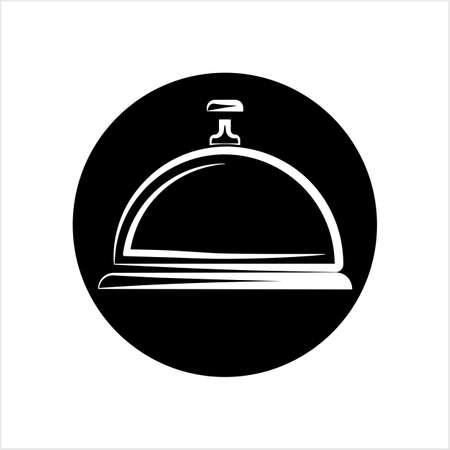 Hotel Bell Icon, Reception Bell Vector Art Illustration
