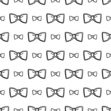 Bow Tie Icon Seamless Pattern Vector Art Illustration Ilustración de vector