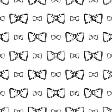 Bow Tie Icon Seamless Pattern Vector Art Illustration Ilustração Vetorial