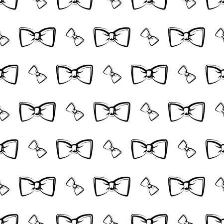 Bow Tie Icon Seamless Pattern Vector Art Illustration