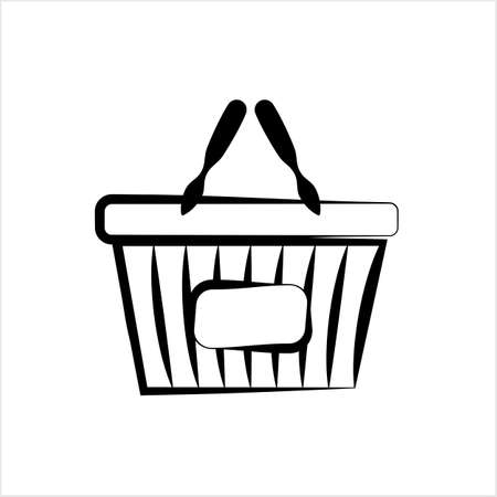 Shopping Basket Icon Vector Art Illustration Ilustração