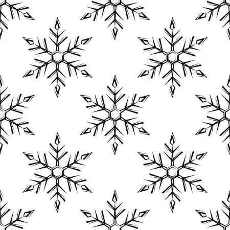 Snowflake, Snow, Ice Crystal Shape Seamless Pattern Vector Art Illustration Illustration