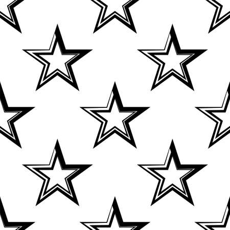 Star Shape Icon Seamless Pattern Vector Art Illustration