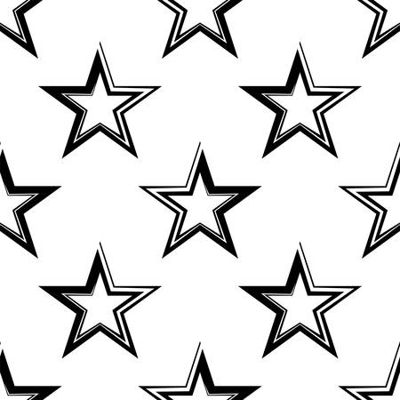 Star Shape Icon Seamless Pattern Vector Art Illustration
