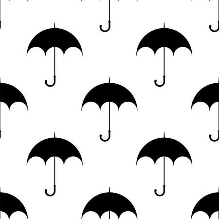 Umbrella Icon Seamless Pattern Vector Art Illustration Vector Illustration