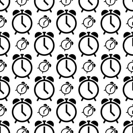 Alarm Clock Icon Seamless Pattern Vector Art Illustration Ilustração