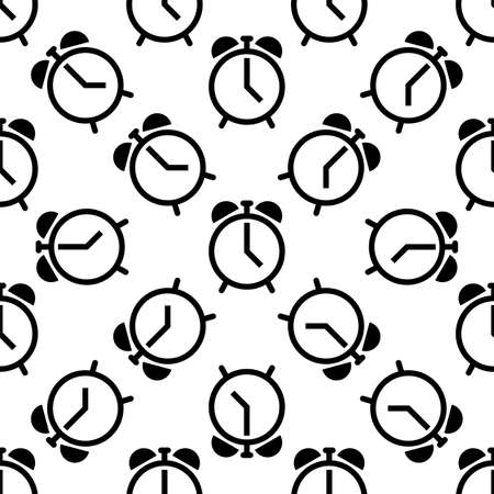 Alarm Clock Icon Seamless Pattern Vector Art Illustration  イラスト・ベクター素材