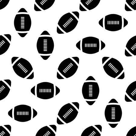 American Football Icon Seamless Pattern, Soccer Ball Seamless Pattern Vector Art Illustration Illustration