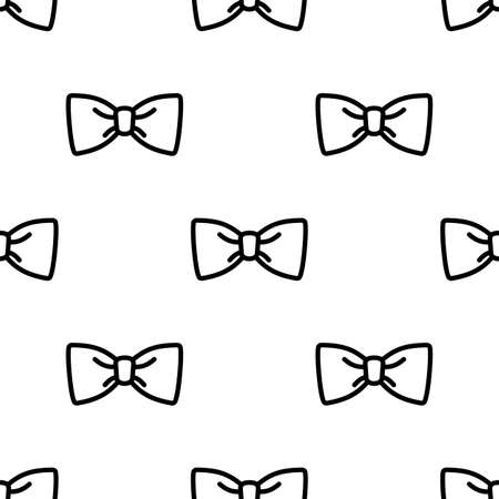 Bow Tie Icon Seamless Pattern Vector Art Illustration
