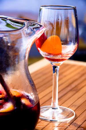 the wineglass of Sangria photo