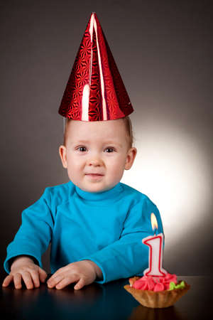 little boy first birthday photo
